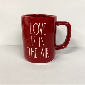 New Rae Dunn Red Love Is In The Air Coffee Mug